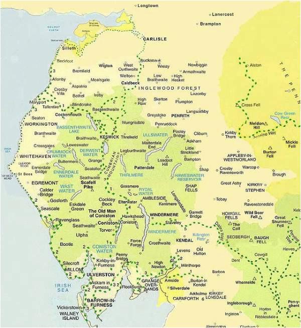 lake district map maps of cumbria national park boundaries