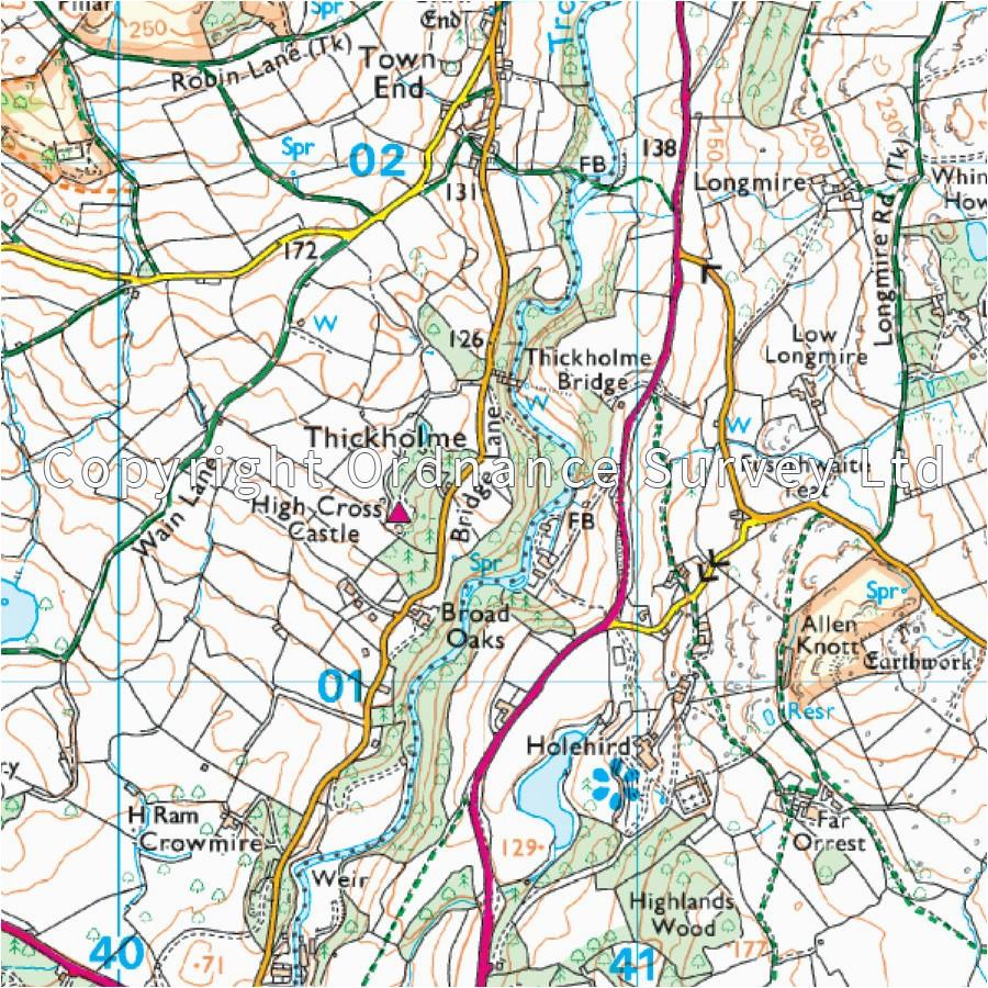 lake district os explorer map ol7 se windermere kendal