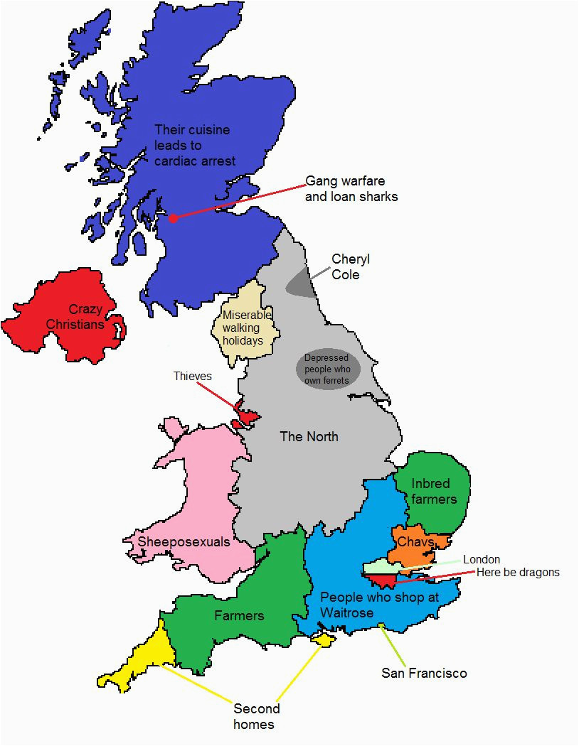 a map of gt britain according to some londoners travel