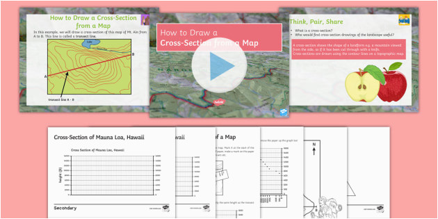 map skills how to draw a cross section of a map lesson pack cross
