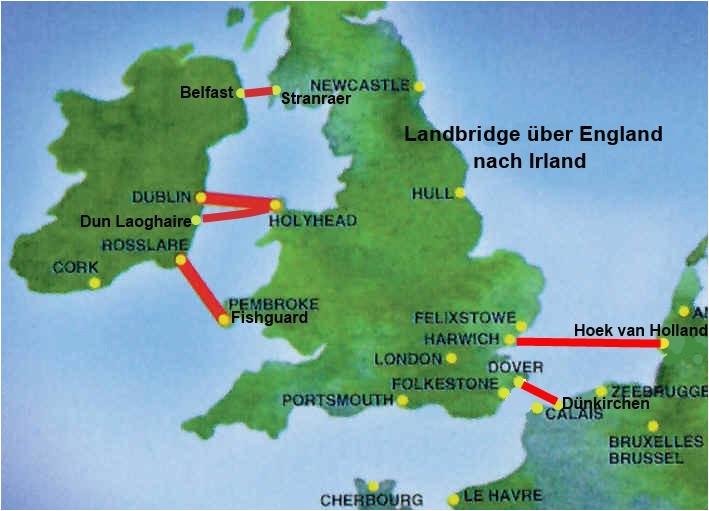 fahren irland landbridge england nach irland