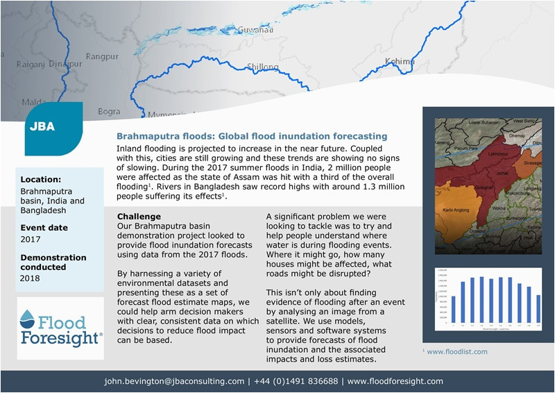 forecast flood inundation mapping catastrophic flood management jba
