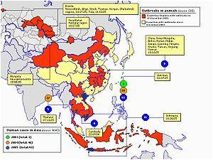 global spread of h5n1 wikipedia