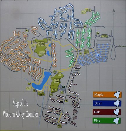 map of the complex picture of center parcs woburn forest