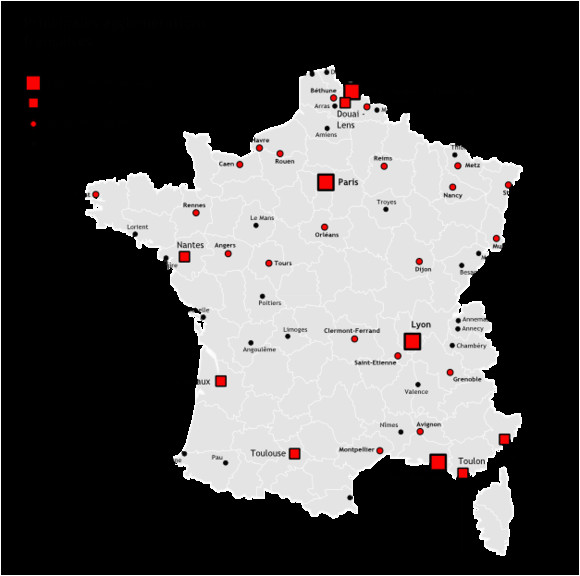 map of france cities france map with cities and towns
