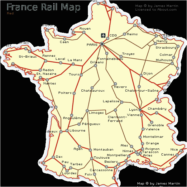France Rail Network Map France Railways Map and French Train Travel Information