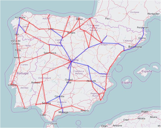 rail map of spain and portugal
