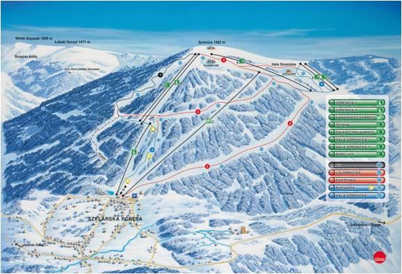 trail map szklarska pora ba szrenica