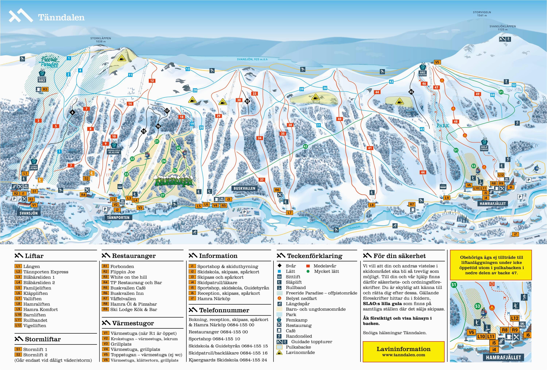 France Ski Resort Map Trail Map Tanndalen