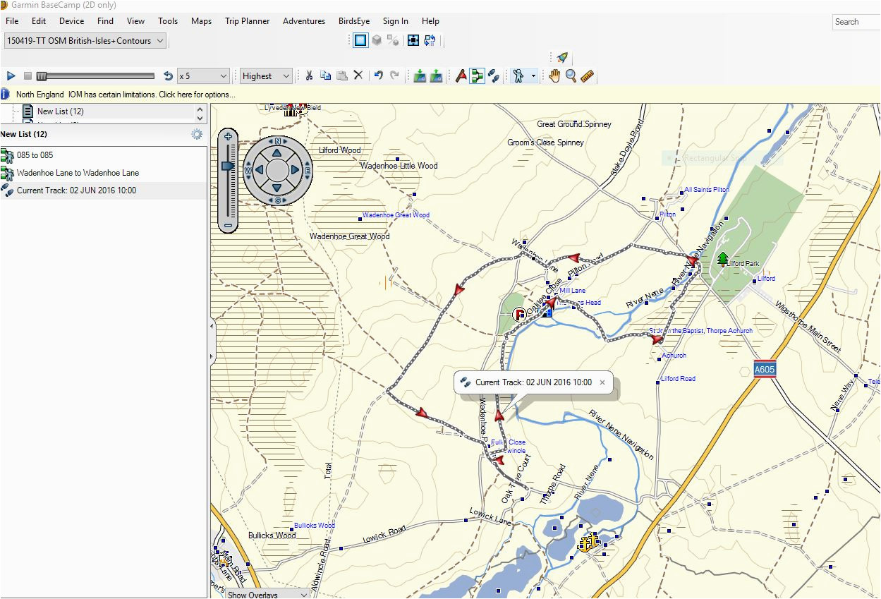 choosing tiles to provide mapping for a garmin gps device