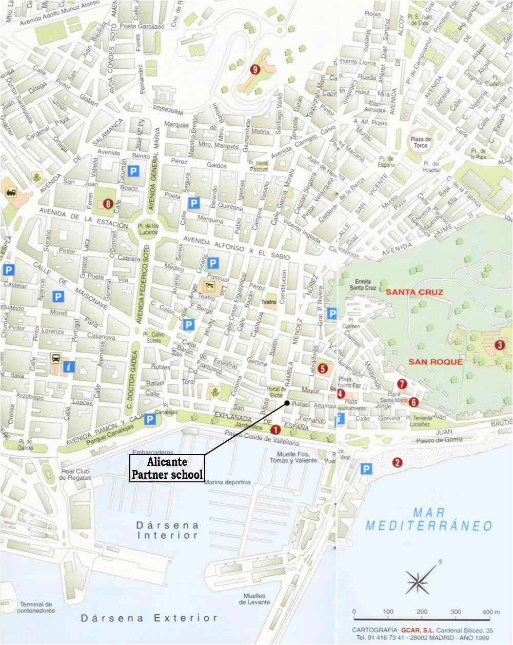 large alicante maps for free download and print high