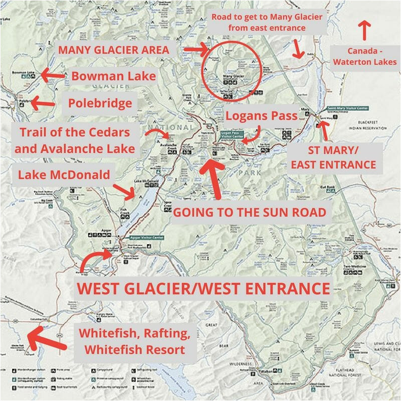 19 magical things to do in glacier national park map included