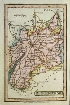 12 best antique maps of gloucestershire images in 2017