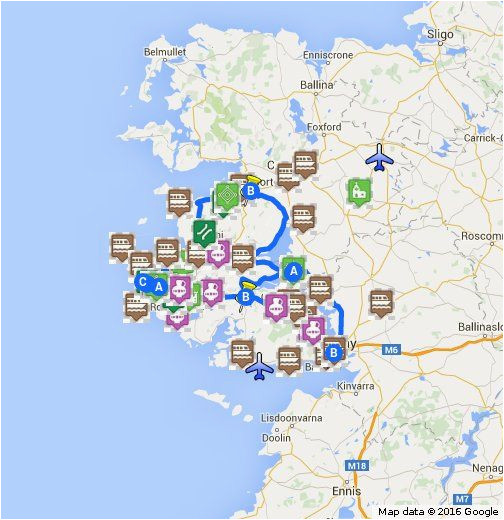 Gold In Ireland Map Map Of Connemara Sights Ireland Ireland Map Connemara Ireland