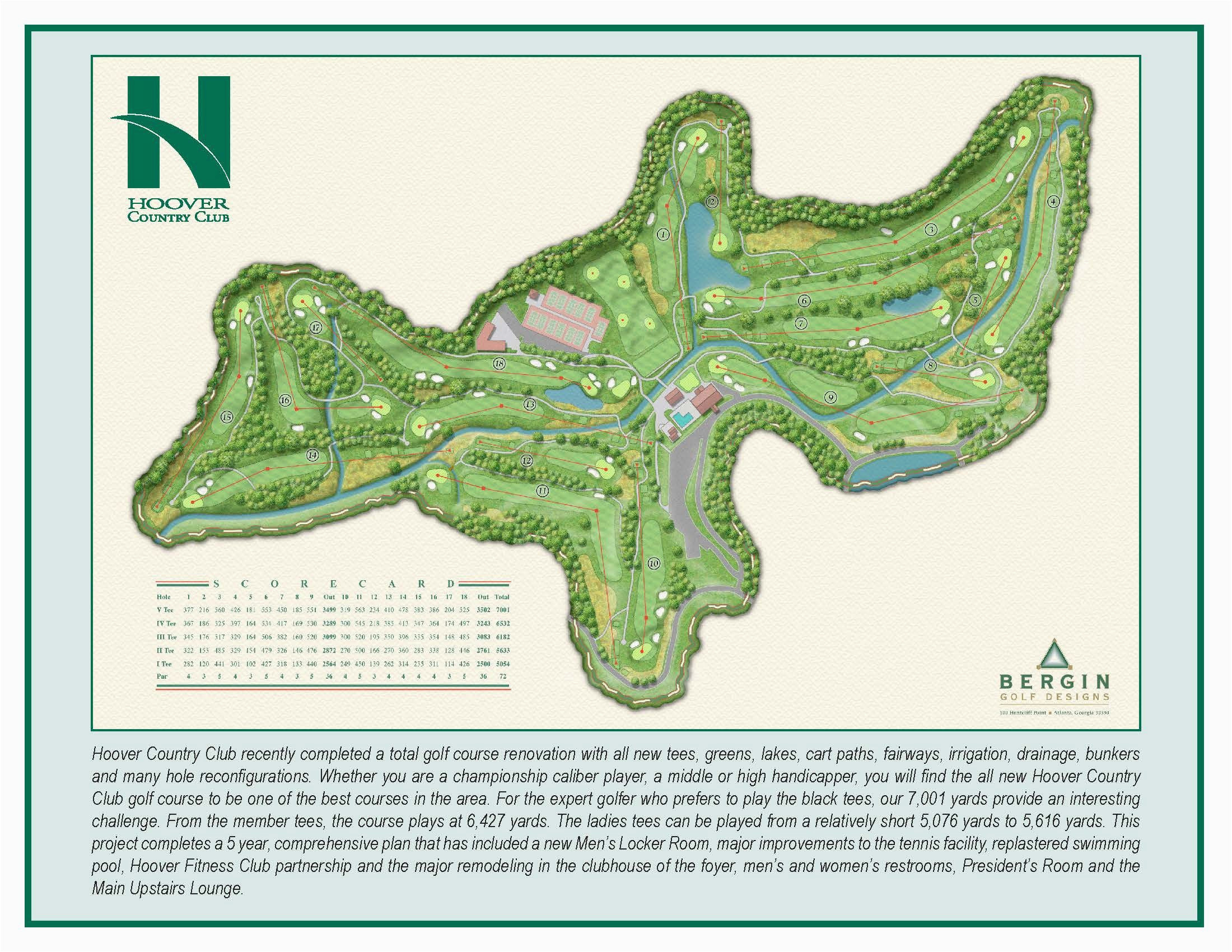 hoover country club course map hcc golf our beautiful country