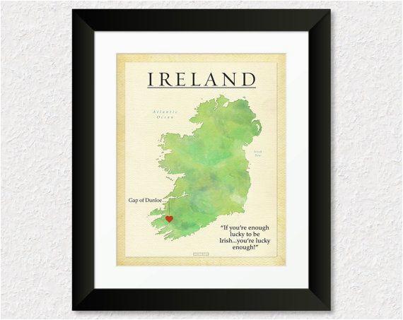 custom ireland map personalized map gift birthday by keepsakemaps
