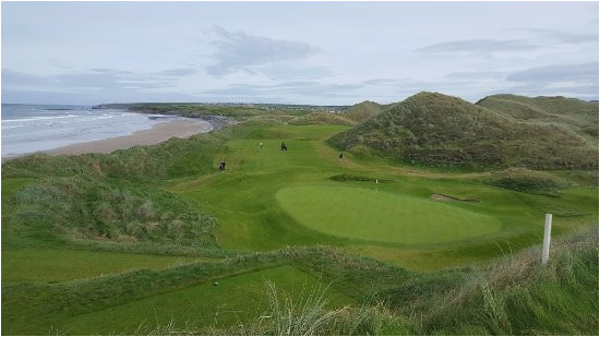 17th green on the old course at ballybunion golf club another