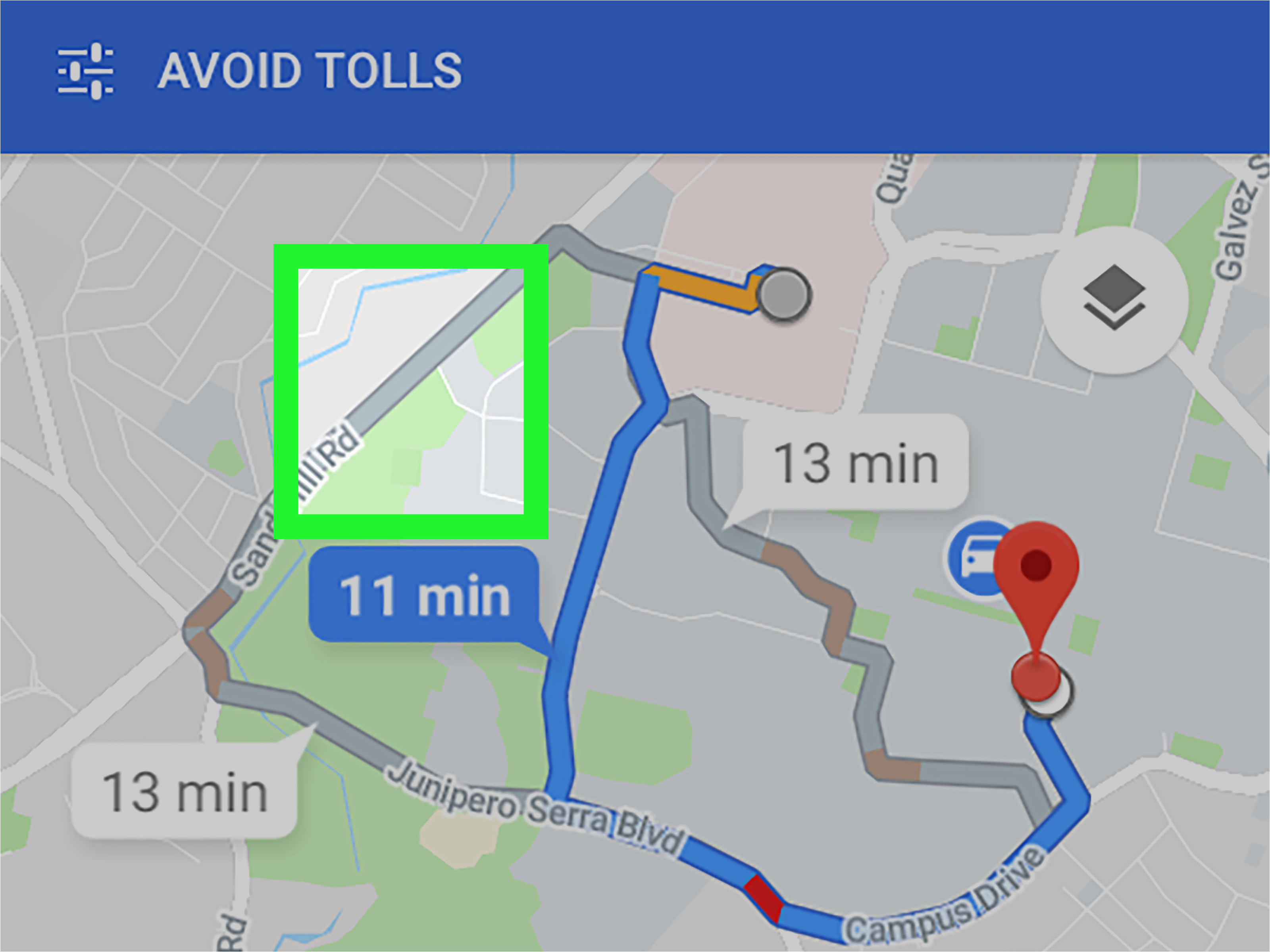 unter android in google maps die route andern wikihow