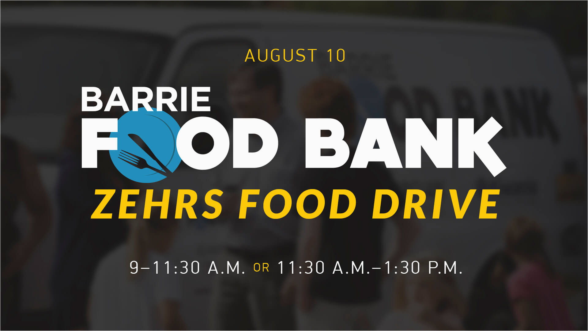 barrie food bank zehrs food drive harvest bible chapel