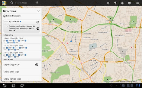google maps for android update adds bus journey planning and offline