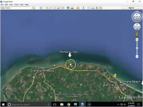 d day invasion beaches june 6 1944 from google earth