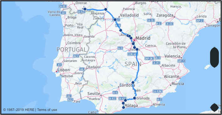 what is the distance from malaga spain to sotogrande spain google