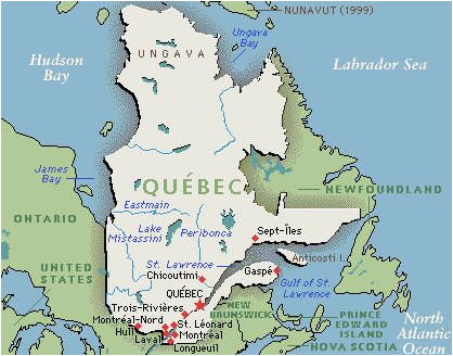 quebec map google map of quebec canada outnabout