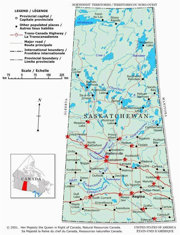 saskatchewan communities location of cities and towns on a