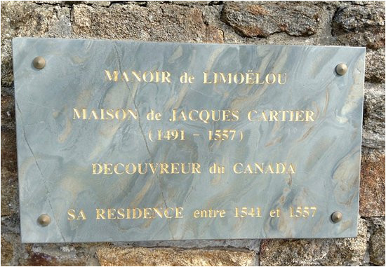 plaque on wall outside jacques cartier s house picture of musee