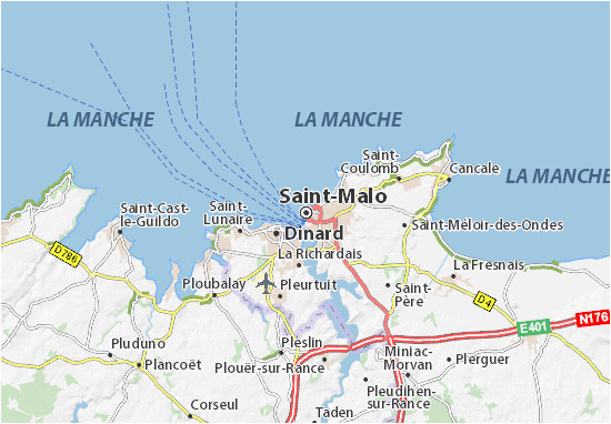 Google Maps St Malo France Saint Malo Map Detailed Maps for the City Of Saint Malo Viamichelin