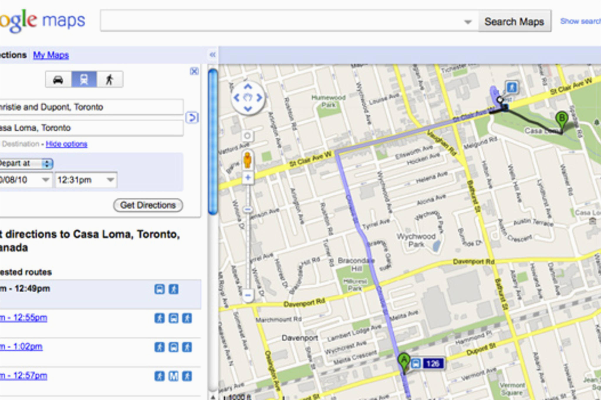 Google Maps toronto Canada Directions A Closer Look at Ttc Routes On Google Maps
