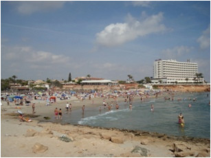 map of la zenia in spain street map and attractions