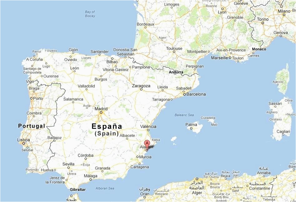 map of spain google