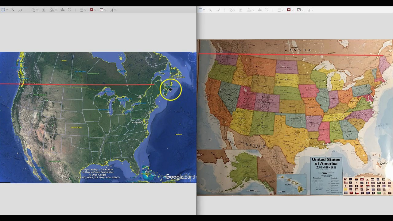 printable north america map and satellite image united states