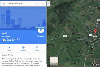 travel review of google maps for a vacation in ireland