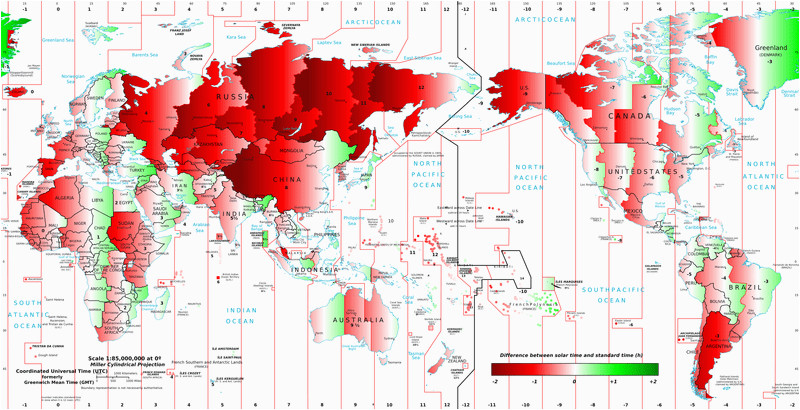 geography of time zones geography realm