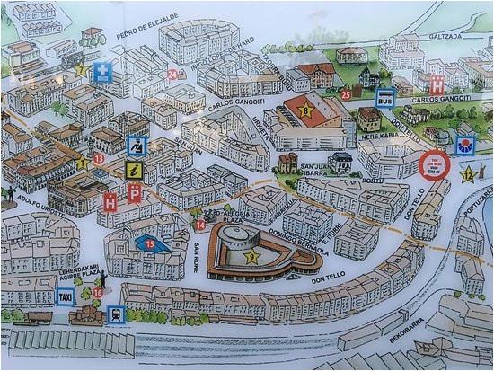 gernika street plan picture of museo de la paz de guernica