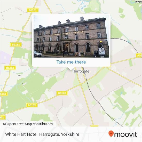 how to get to white hart hotel harrogate in harrogate by