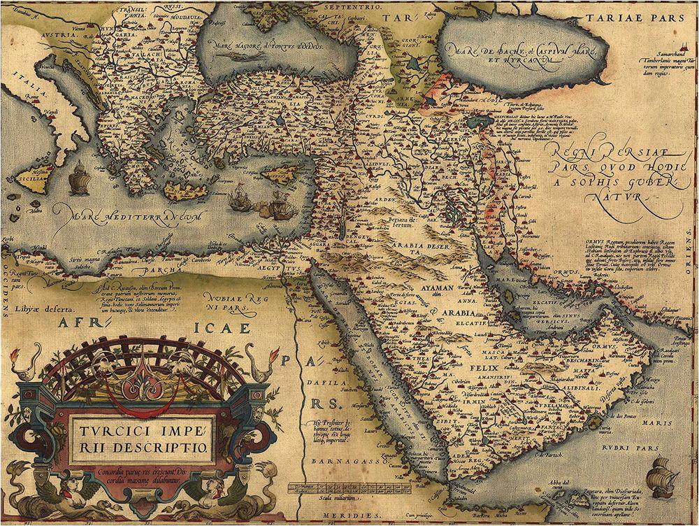 the ottoman empire from abraham ortelius atlas 1570 everett