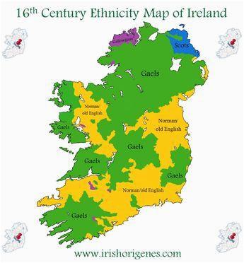 16th century ethnicity map of ireland ireland 1500s map