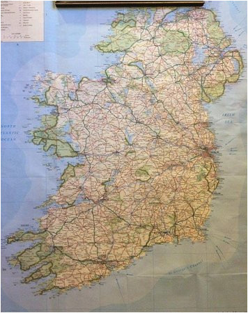 ireland map in the dining room picture of ballymore house