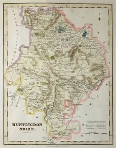 9 best antique maps of huntingdonshire images in 2017