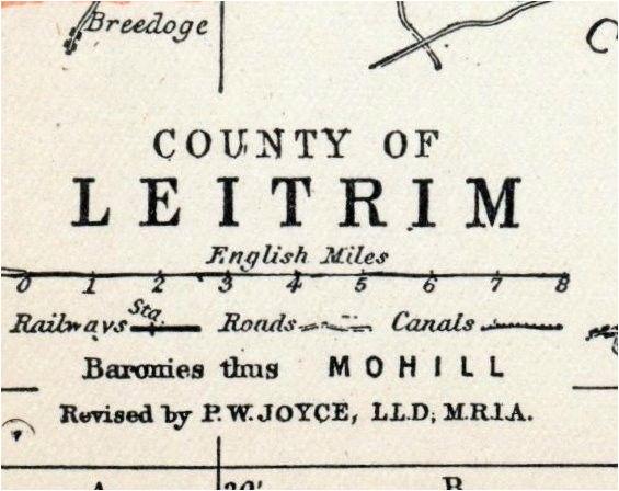 1902 antique map of county leitrim ireland travel ireland