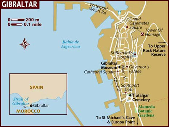 interactive map of gibraltar search touristic sights