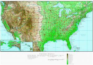 elevation map oregon us topographic map with highways awesome us