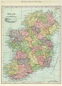 ireland map vintage map download antique map c s