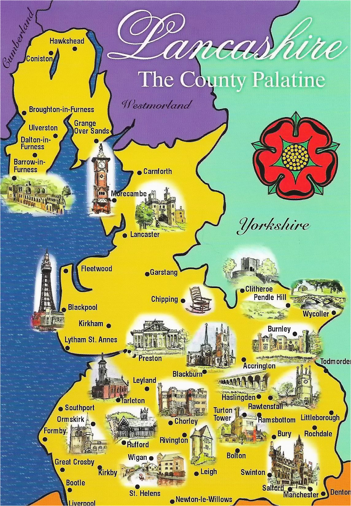 lancashire map sent to me by gordon of northern ireland here is a