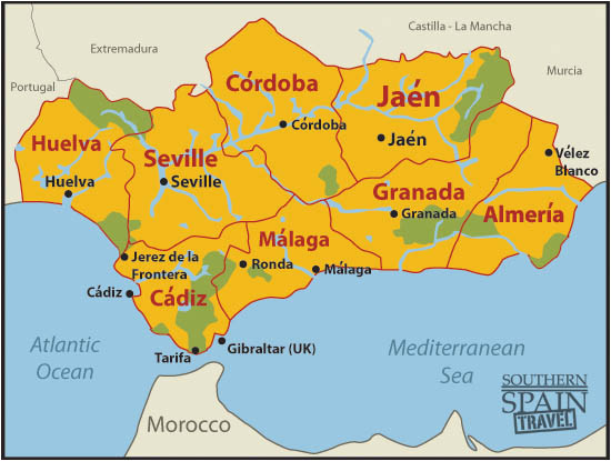 Jerez De La Frontera Spain Map Map Of Spain