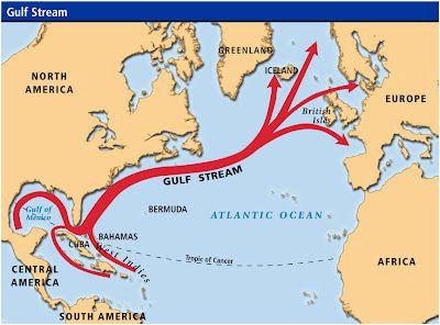 gulf stream map geography gulf stream map iceland