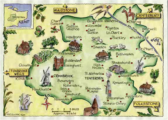 weald of kent family heritage village map website link
